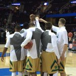 Irish on the floor for pregame warmups! 30 minutes to tipoff here In Cleveland vs Wichita St in the Sweet 16! http://t.co/ajkfLzRpAN