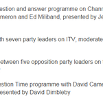 The UK TV debates schedule looks like this: and theres even a @bbcquestiontime in the mix! #bbcqt http://t.co/eWe50MEMa0