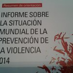 #Ecuador Inf.Situacion Mundial Prevencion Violencia 2014 @opsoms @UNODC @pnud @unasursecgral @MoniPizani @yinquizu http://t.co/BblC8jD1DS