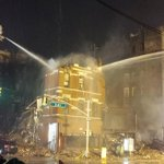 #FDNY operations in the #EastVillage continue into the night. http://t.co/dKUbcma91b
