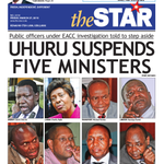 In Todays Star: Uhuru Suspends Five Ministers #ListOfShame #StateOfTheNation #EACCReport http://t.co/lBK1m3bSBG http://t.co/5nwLKMN0rb