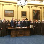 The governors office wont say who was present at the #RFRA bill signing. http://t.co/aEYYMzvOc7 http://t.co/uBsHRsv6HC