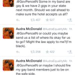 """I ❤️ you, Audra. RT""""@DCHomos: .@AudraEqualityMc dragging @GovPenceIN ???????????? yaaaaaaaaas #EqualRights #Equality http://t.co/G6lKQPdq7T"""""""