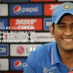 Respect. @msdhoni bows out of #cwc15 with class. #INDvAUS http://t.co/hLLTqxyYSd