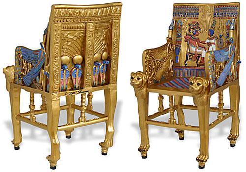 """Авангард Мебель в Твиттере: """"ТРОН ФАРАОНА ТУТАНХАМОНА, который нашли в гробнице Тутанхамона в 1922 году. http://t.co/TDT9IYShEw"""
