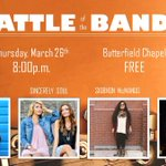 #NUunpluggeds Battle of the Bands is TONIGHT! Be sure to be in the Chapel at 8:00pm!  See you there! http://t.co/VY6hHyHSoo