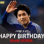 誕生日おめでとう! ♪(≧m≦)o∀*  SoccerKingJP: 【HAPPY BIRTHDAY】本日3月27日、シャルケの内田篤人が27歳の誕生日を迎えました。おめでとうございます! http://t.co/DUlSezMfNF http://t.co/LMycHBJYH3