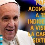 """Papa Francisco sorprendió a 150 indigentes y """"sin techo"""" en la Capilla Sixtina. http://t.co/p5nRYdcmJF http://t.co/vjDoiJGiLQ"""