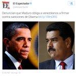 Ya es noticia en el MUNDO, q Maduro está obligando a venezolanos a firmar para defender CORRUPTOS y NARCOTRAFICANTES http://t.co/UgsrIhN9bB