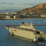 Great shot of @Australian_Navys #HMASCanberra entering Townsville port today - the first of many times. #yourADF http://t.co/riT5XcbK5w