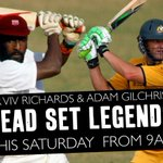 Tomorrow morning... Sir @vivrichards56 & @gilly381! @MarkHoward03 & @waynecarey27 are live from 9AM #CWC15 http://t.co/U2Oez9sowz