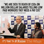 Were sick to death of CEOs telling low-paid workers they need a pay cut. RT if you are too. #RaiseTheWage #auspol http://t.co/k6G4aEXZHw