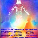 Jadwal Perayaan Ekaristi Pekan Suci 2015 Gereja St. Antonius Kotabaru Yogyakarta. -@winarchangela http://t.co/wLg6m8sJez