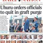 President @UKenyatta has run away with the News Headlines in major dailies @ConsumersKenya @VOASwahili @UgatuziKenya http://t.co/UCF1cVcxwn