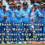 Winning & Loosing is Just part  of the Game, Dhoni & Team have done Well through out the Tournament... #RTifUAgree