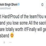 टीम इंडिया की हार पर साक्षी ने ट्वीट कर कुछ ऐसे किया सपोर्ट http://t.co/aIEccdxQgv via @News18Hindi