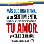 """""""Más que una firma, es un sentimiento."""" #VenezuelaEsEsperanza #NuestraVictoriaEsLaPaz http://t.co/sPhTPKvT79"""