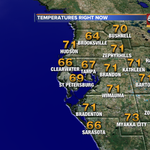 Temps right now! Heading to the mid 70s with rain & wind. #tampa #tampaweather @abcactionnews @tampabaytraffic http://t.co/jH210ZbYOn