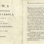 27 III 1818 r. cesarz Rosji i król Polski Aleksander I dokonał otwarcia pierwszego sejmu Królestwa Polskiego http://t.co/CcqWehuYoS