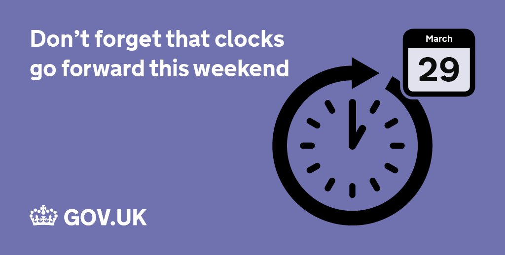 Don't forget, clocks go forward this weekend, marking the start of British Summer Time: https://t.co/xIoFPAdXMy http://t.co/JdcZSimKnT