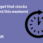 Dont forget, clocks go forward this weekend, marking the start of British Summer Time: https://t.co/xIoFPAdXMy http://t.co/JdcZSimKnT