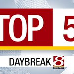 Need a rundown of the days top stories? Watch #Daybreak8s Top 5, coming up at 6:44 a.m. http://t.co/C11KgTY5Qr