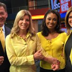 Despite the rain, its a sunny day inside the @abcactionnews studios. Were all in yellow for #wearyellowforseth day! http://t.co/oqDT3Dep79