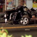 A car splits in 2 after hitting 2 cement poles in #Orlando. Police say a minor was behind the wheel. #Fox35 http://t.co/2PaN9NtPTD