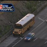 Heres the disabled school bus along 275SB/Howard. Please be careful!! FHP says kids will be transferred to 2nd bus! http://t.co/Upc7be6JX3