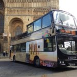 Here she is: the new #MagnaCarta Lincoln tour bus! http://t.co/HRrpn9T6zn