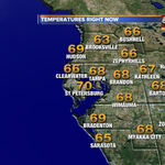 Temps right now! #tampa #tampaweather @abcactionnews http://t.co/G3INrSKP3Q