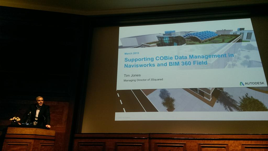 RT @gerriemuhren: @tim3sq of @3Squared presenting the COBie toolkit integration with @Navisworks & @BIM360Field during #BIMProspects . http://t.co/vIWsM4pGAQ