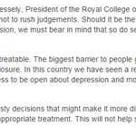 The Royal College of Psychiatrists on the Germanwings headlines today http://t.co/WJ3bOnTnJE http://t.co/kmwqmUjX7D