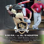 It's Gameday!!! No. 6 #UCF begins three-game set vs. No. 15 Houston at6:30 p.m.#ChargeOn http://t.co/pcejQgyxT6