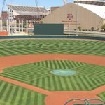 Outfield is looking sharp for tonights game... 6:35 pm start against Missouri #12thMan http://t.co/EWFi893nWO
