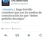 Que te pida disculpas TU MADRE #DagoPortillo http://t.co/lqpEIfPHjI