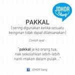 """JohorSlang untuk """"Pakkal. http://t.co/QN8NfLsAMU"""