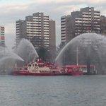 Auch unser Feuerlöschlöschboot hat heute Abend einen Probelauf gemacht. #24h112 http://t.co/1TK0Wjr6nu
