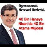 #BaşbakandanÖğretmeneNisanda40BinAtama c @Ahmet_Davutoglu v @veyisates v Öğretmenler başbakandan müjde bekliyor http://t.co/46iAnS2Uk9