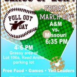A&M Sophomores: Be sure to join the rest of your class today at @TAMUPullOutDay See you tonight at Blue Bell Park! http://t.co/qeLaVPlMhs