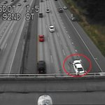 A crash has the right-center lane of SB 5 south of Northgate blocked. http://t.co/bGciDoFpPm
