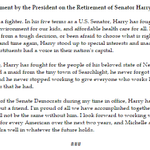 President Obamas statement regarding the planned retirement of @SenatorReid: http://t.co/z1UBOpc3xO