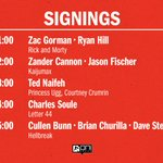 #ECCC Visit us at Booth 212, in front of the skybridge! Here are the Oni Press creators signing with us today. http://t.co/z2KAEmCmck