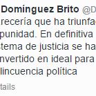 Este es el tuit que borró el procurador Francisco Domínguez Brito. http://t.co/1UT8A61Js0