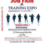 Visit our #Jobfair & Training Expo in #Mississauga @RasWard2 http://t.co/3CFCpcmBDC
