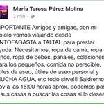 Por favor a la gente de #Antofagasta que quiera mandar ayuda a #Taltal, comunicarse conmigo. http://t.co/x3aF6peUIj