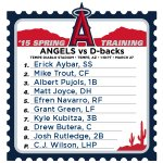 Here's how the #Angels will line up to face the D-Backs. #LAASpring http://t.co/DvGUGYit79