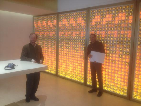 New tasting room @ Yquem. Each circle a vintage corresponding to colour of that wine. http://t.co/d7qWUgaWFM