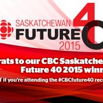 Congrats to all #cbcfuture40 winners cant wait to celebrate w/ you tonight at networking reception! #yxe RT some luv http://t.co/Kq1I6tSVg8