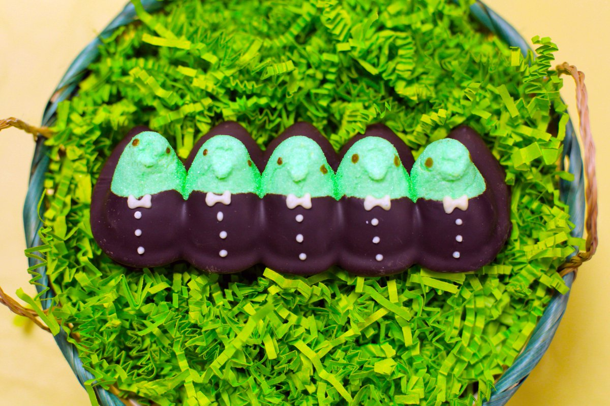 For peeps sake! These little guys are stealing the show in their chocolate tuxedos. http://t.co/qYFa855W1E http://t.co/SQGHTF59Wp